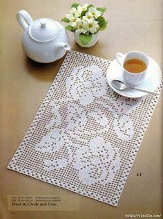 Filet crochet doily