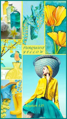 '' Turquoise & Yellow '' by Reyhan S.D.