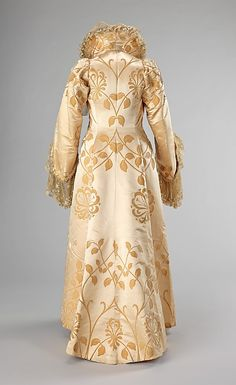 ~Evening coat  House of Worth  (French, 1858–1956)    Designer:      Jean-Philippe Worth (French, 1856–1926)  Date:      ca. 1902  Culture:      French  Medium:      silk~  Brooklyn Museum Costume Collection at The Metropolitan Museum of Art