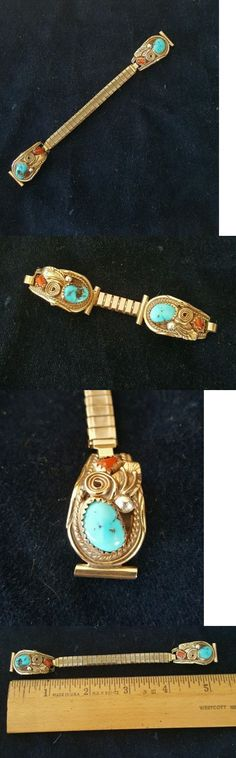 Watches 98502: Ladies Sterling Silver Turquoise Watch Band Ends -> BUY IT NOW ONLY: $39 on eBay!