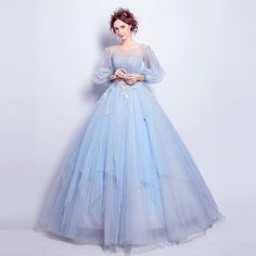 Angel Wedding Dress Marriage Evening Bride Party Prom Bridal Gown Vestido De Noiva 2017Blue, Long sleeve6001 Just look, that`s outstanding! Visit us