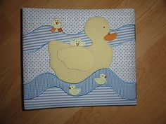 """Baby Photo Album, Fabric covered, Duck Theme  10.5""""x9"""" Cover w/10 Pgs. 8.5""""x8"""" - http://baby.goshoppins.com/announcements-keepsakes/baby-photo-album-fabric-covered-duck-theme-10-5x9-cover-w10-pgs-8-5x8/"""