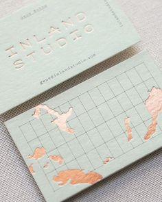 Inland Studio Business Card #CustomBusinessCards #businesscardmaker