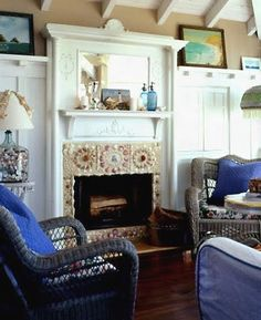 6 Stunning DIY Shell Mosaic Fireplaces