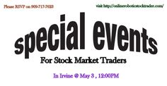 Life Changing #Event For #Stock #Traders http://lnkd.in/bPk58_F