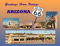 Arizona - Greetings From Vintage Arizona Route 66 Custom Postcard