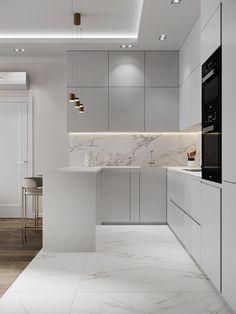 Luxury Kitchen Design, Kitchen Room Design, Kitchen Cabinet Design, Home Decor Kitchen, Interior Design Kitchen, Home Kitchens, Kitchen Ideas, Luxury Kitchens, Kitchen Modern