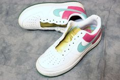 Men Nike Air Force 1 Xxv Af1 Pink Hawaiian Gold 315122 141 Shoes 7.5 Sneakers #Nike #AthleticSneakers