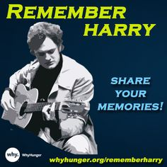 It's been 35 years since the untimely passing of our co-founder Harry Chapin, whose legacy continues on through our work to end hunger and poverty. We invite you to #RememberHarry by reading & sharing your memories! www.whyhunger.org/rememberharry Any Music, Family Memories, Crossover, True Love, Invite, Reading, Classic, Audio Crossover, Real Love
