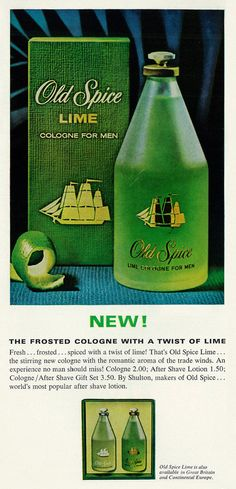 1966 Fragrance Ad, Old Spice Lime Cologne for Men, Playboy Vanilla Perfume, Weird Vintage, Education Information, Old Spice, Wet Shaving, Male Grooming, Guys Be Like, After Shave, Cologne