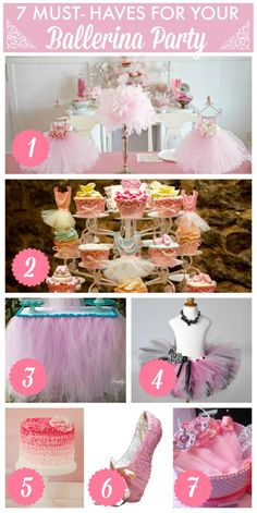 7 must-have party ideas for your ballerina girl birthday party! Ballerina Party, Ballerina Baby Showers, Ballerina Birthday Parties, 4th Birthday Parties, Birthday Ideas, Party Fiesta, Festa Party, Bday Girl, Childrens Party