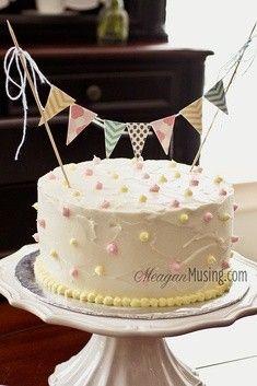 1st Birthday Cake Ideas for Girls white simple elegant