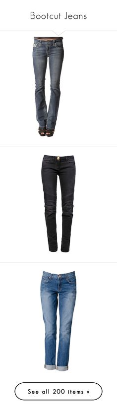 """Bootcut Jeans"" by libby77 on Polyvore featuring jeans, pants, bottoms, dark wash, low rise slim bootcut jeans, stretchy jeans, low rise stretch jeans, low rise boot cut jeans, slim boot cut jeans and blue"
