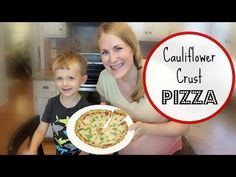 Cauliflower crust pizza!  Cooking with Carson - YouTube