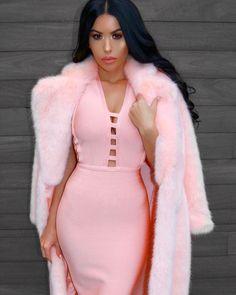 Kiandra Pink Bandage Dress