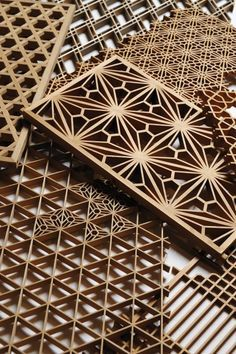 Kumiko (art technique of assembling small wooden pieces without nails) by Shinichi Sugawara from Iwate, Japan. (wasaku.org) 83 repins ...