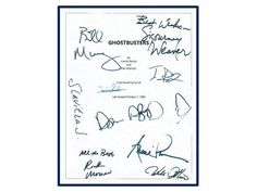Ghostbusters Movie Script Signed Screenplay by hollywoodfinds Ernie Hudson, Annie Potts, Harold Ramis, Rick Moranis, Ghostbusters Movie, Sigourney Weaver, Movie Scripts, Bill Murray, Comedy Movies