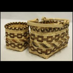 Cherokee White oak miniature purse set