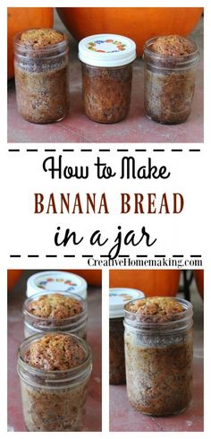 This easy banana bread in a jar recipe is a great gift idea for Christmas! This easy banana bread in a jar recipe is a great gift idea for Christmas! Mason Jar Meals, Meals In A Jar, Mason Jars, Desserts Ostern, Cake In A Jar, Buffet, Canning Recipes, Jar Recipes, Recipies