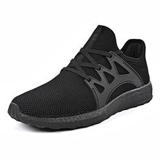 05bc165466356 Mxson Womens Ultra Lightweight Breathable Mesh Street Sport Walking Shoes  Casual Sneakers Black 9 BM US   More info could be found at the image url.