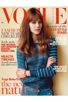 Love!! #UK #Vogue January 2015 #FrejaBehaErichsen by Alasdair McLellan