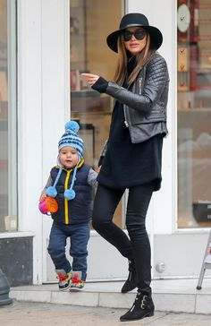 Miranda Kerr Takes Son Flynn to the Park in NYC