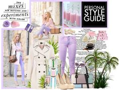 """""""Pastel LILAC - street style - get the look !"""" by firstclass1 ❤ liked on Polyvore"""