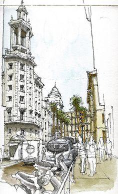 Málaga, Puerta del Mar by Luis_Ruiz, via Flickr