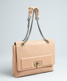 Lanvin nude leather 'Happy' chain strap shoulder bag