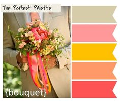 {Palette Inspiration}: A Color Palette of Coral, Peach, Pink, Tangerine and Taupe http://www.theperfectpalette.com/2011/09/palette-inspiration-color-palette-of.html