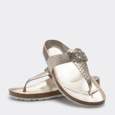 Image 2 of the product EMBOSSED LEATHER SANDALS