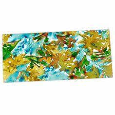 """Ebi Emporium """"Floral Cascade 9"""" Yellow Green Desk Mat"""