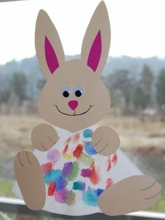 Image preschool crafts rabbits hosted in Life Trends 1 Easter Crafts For Toddlers, Easter Art, Easter Crafts For Kids, Toddler Crafts, Preschool Activities, Paper Bouquet, Kids And Parenting, Diy And Crafts, Rabbit