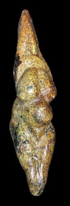"""Venus of Savignano 24,000 -21,000 yrs. old. Italy. Carved steatite. At 8.9"""", it is the tallest of the stone age Venuses."""