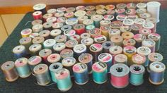 101  Assorted Small Spools Of Thread  by pittsburgh4pillows