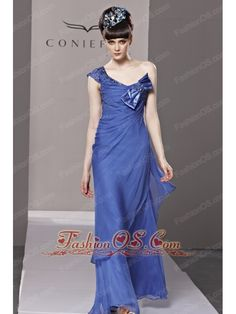 Blue Column / Sheath One Shoulder Floor-length Organza Beading and Bowknot Prom Dress / Evening- $145.59  www.fashionos.com  prom dresses with beading | prom dress with natural waist | 2013 junior prom cocktail dresses for girls | las vegas nevada | cheap prom formal dresses free shipping | sexy prom evening dress for 2013 | plus size prom pageant dress | one shoulder strap prom dress with floor length | 2013 20141 plus size prom evening dresses | custom made prom homecoming dresses in 2015…