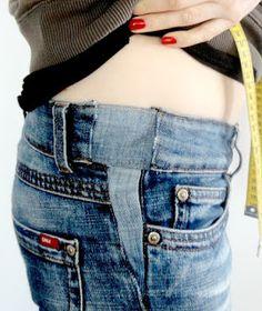 Enge Jeans wieder passend machen