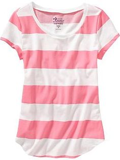 sale $6.00 size: XL Girls Rounded-Hem Tees | Old Navy