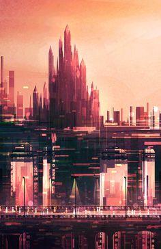 Scott Uminga Visual Art Illustrator Distance Triptych And - City skylines turned into geometric metropolises by scott uminga