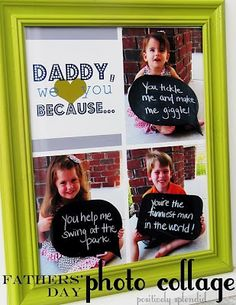 Father's day craft ideas; Keep idea, use with white speech bubbles (blank) so we can use dry erase markers daily.