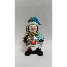 Holiday Living Christmas Color Penguin Ornament with Color Changing Led Lights