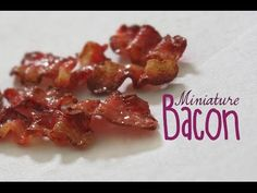 how to: miniature bacon Polymer Clay Canes, Polymer Clay Miniatures, Fimo Clay, Polymer Clay Projects, Dollhouse Miniatures, Clay Beads, Minis, Crea Fimo, Barbie Food
