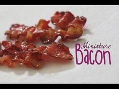 Polymer clay tutorial miniature bacon - YouTube