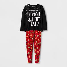 bba60d54fd Toddler Girls  4pc Long Sleeve Santa Pajama Set - Just One You Made ...