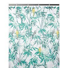 Bird & Leaf Fabric Shower Curtain | Home & Garden | George at ASDA Bird Shower Curtain, Fabric Shower Curtains, Fabric Birds, Asda, Bathroom Accessories, Home And Garden, Leaves, Bathroom Ideas, Bathrooms