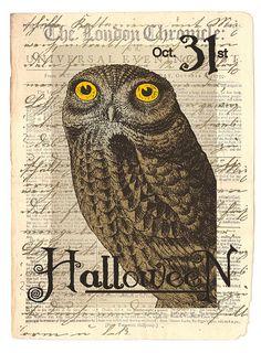 halloween owl, printable?