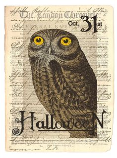 halloween owl, printable?