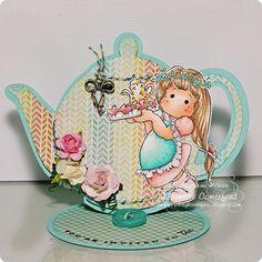 Jingle Jangle Tilda - Teapot Card