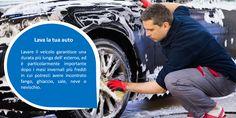 Pulizia  Sottoponi la tua auto una pulizia completa, dentro e fuori, compresa la parte inferiore della tua auto dove si accumula sporcizia e la sporcizia può rendere il tuo  motore e la trasmissione inutilmente caldi. La pulizia della parte interna della tua auto ti  darà una guida più confortevole e potenzialmente ridurra' il carico, eliminando articoli non necessari. #pneumaticiperfurgoni