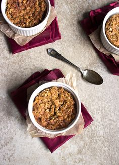 Brown Sugar & Molasses Baked Oatmeal {GF} - Food Faith Fitness